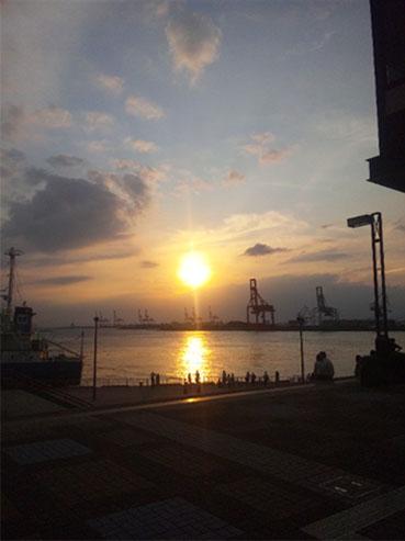sunset at Tempozan_d0245357_0192175.jpg