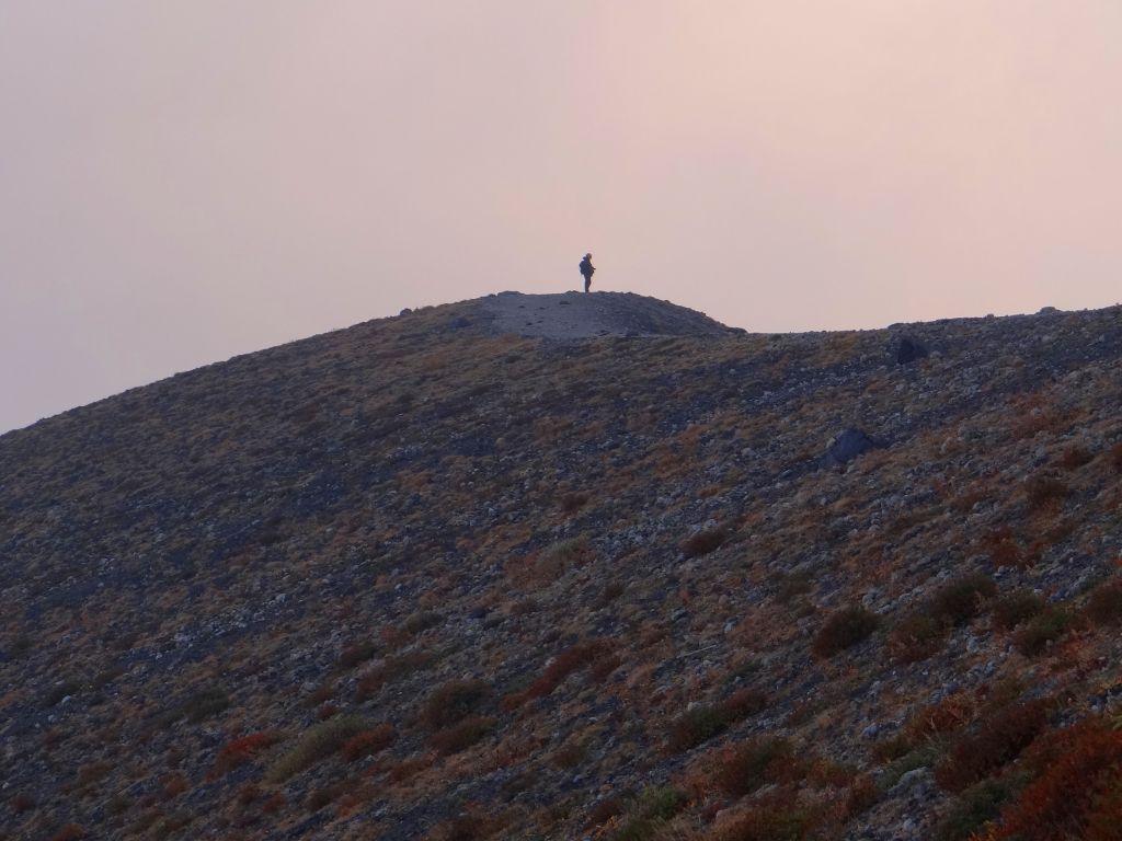 9月28日、樽前山の夕焼け_f0138096_1052482.jpg