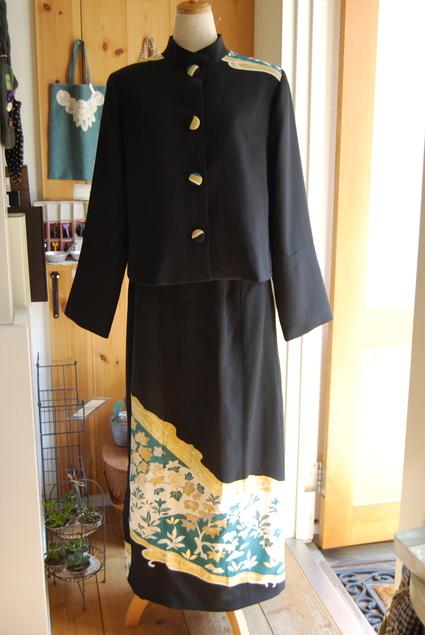 着物リメイク・留袖ジャケット&ロングスカート_d0127925_18253676.jpg