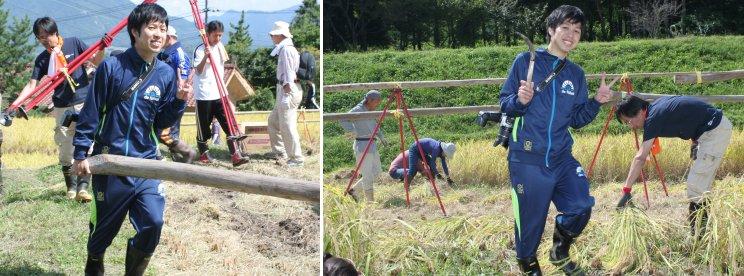 職員米作りの会。迎えた収穫の秋_f0016038_7222658.jpg