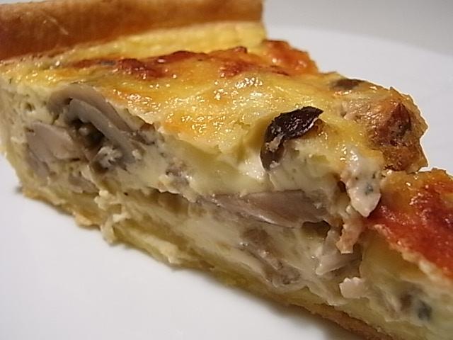 3種のキノコとゴルゴンゾーラチーズのキッシュ_b0145846_21233824.jpg