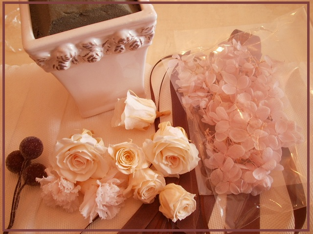 秋のプリザレッスン Rose Rose Rose_e0108851_2027977.jpg