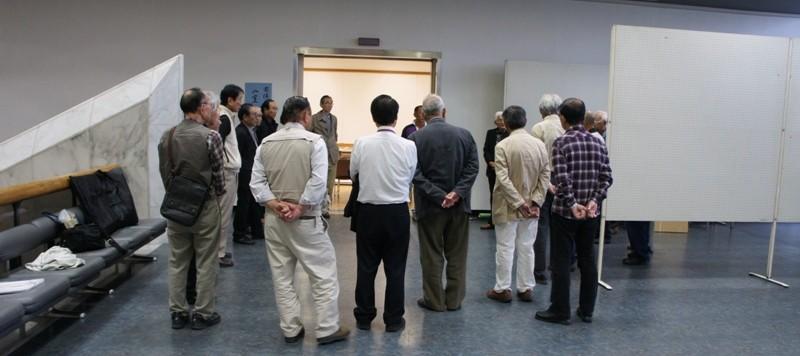 11年10月2日・茨城県芸術祭美術展覧会準備二日目作品搬入_c0129671_1823271.jpg