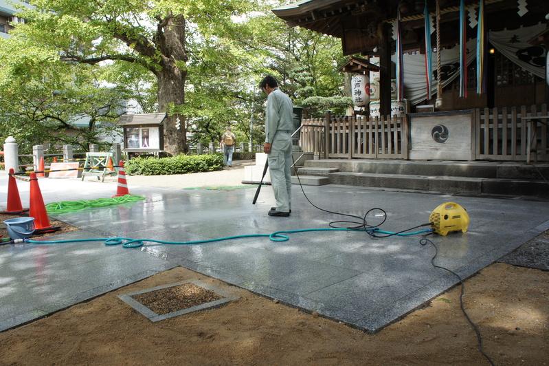 松戸神社 参道改修工事  2011.9.27_e0223769_17432957.jpg