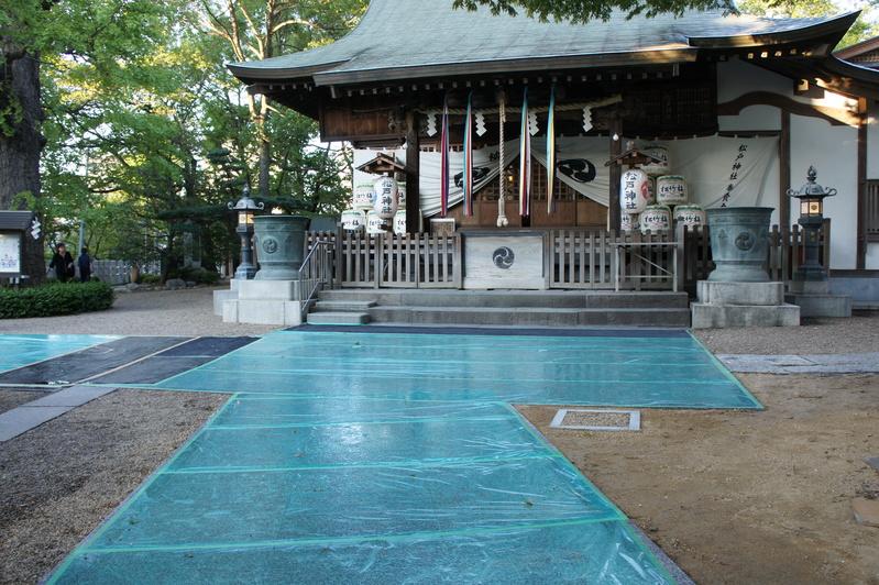 松戸神社 参道改修工事  2011.9.27_e0223769_17435884.jpg