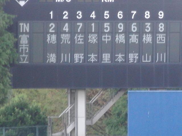 秋季高校野球県大会 富士市立高校 堂々の準優勝!_f0141310_747027.jpg