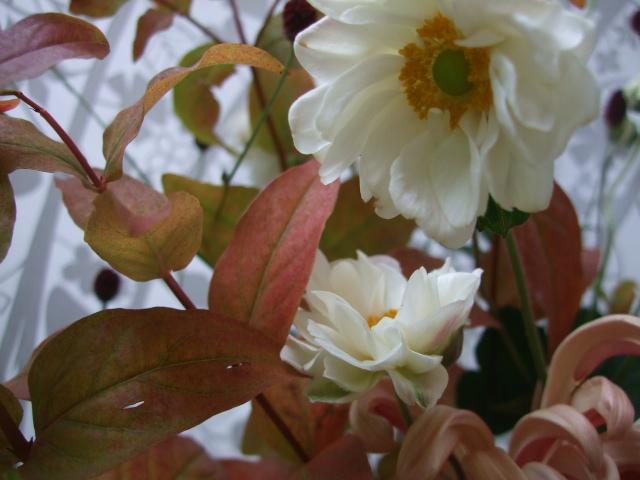 オークリーフ(紅葉と菊と秋明菊の花束)_f0049672_16591867.jpg