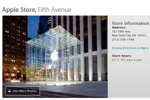スティーブ・ジョブズさん追悼特集 ニューヨーク5th Avenue店前_b0007805_1145444.jpg