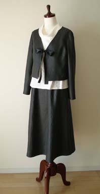 リボンジャケット&スカートのセット<リネン>_f0182167_20484984.jpg