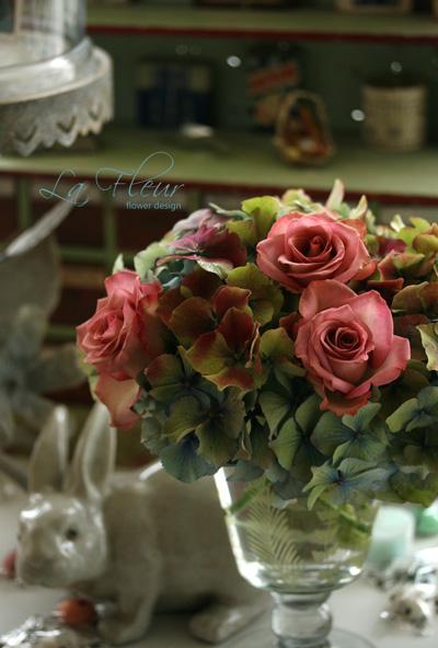 rose ハローウィンと秋色あじさい_f0127281_1241637.jpg
