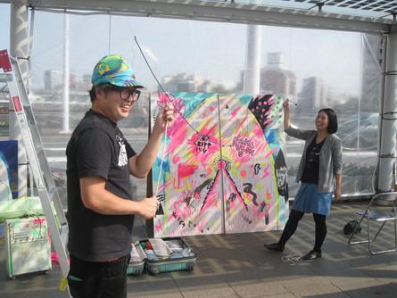 2011紫川アート市にて、_a0125419_2317570.jpg