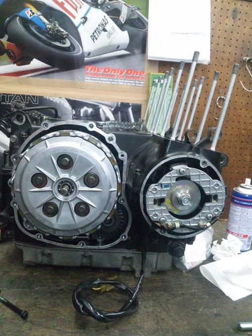 カワサキGPZ400Rエンジンオーバーホール・・・その6_a0163159_20394514.jpg