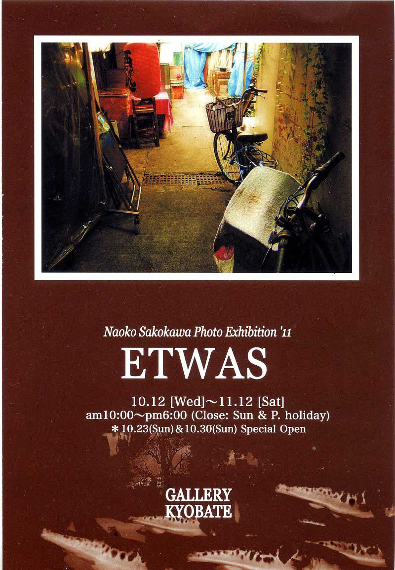 迫川尚子写真展『ETWAS』 10/12~11/12 奈良の京終画廊さんにて開催♪_c0069047_114379.jpg