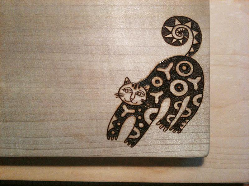 焼き絵まな板【ネコノイタ:国産ほうの木】 -PYROGRAPHY-_e0185119_17284668.jpg