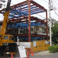 M clinic&house 鉄骨建て方_d0013873_1643234.jpg