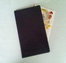 紫革のシンプルな袱紗(ふくさ)_c0223001_2255666.jpg