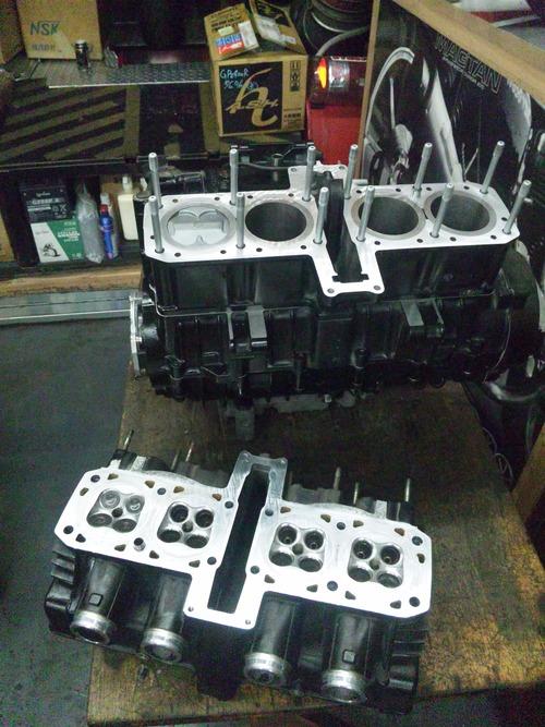 カワサキGPZ400Rエンジンオーバーホール・・・その7_a0163159_21393783.jpg