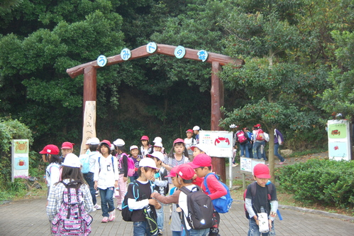 鳴滝小学校2年生40名遠足サポート in うみべの森_c0108460_1814465.jpg