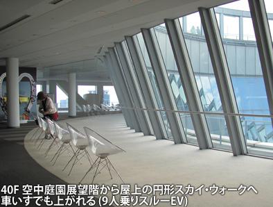 梅田スカイビルの空中庭園とガーデンシネマ、車いすでも大丈夫ですが・・・_c0167961_1244638.jpg