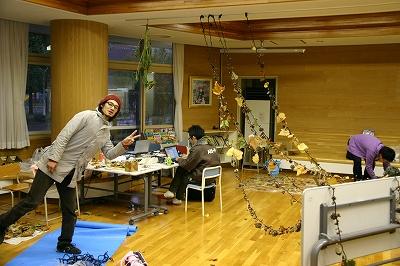 2011年 おとどけアート 稲積小学校 「秋の秘密基地」 小助川裕康_a0062127_981035.jpg