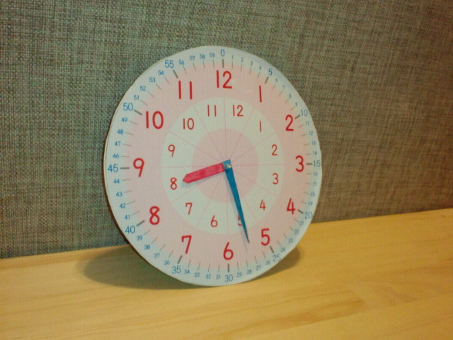 時計の学習 : ムサコママの育児 ... : 学習用時計 : すべての講義