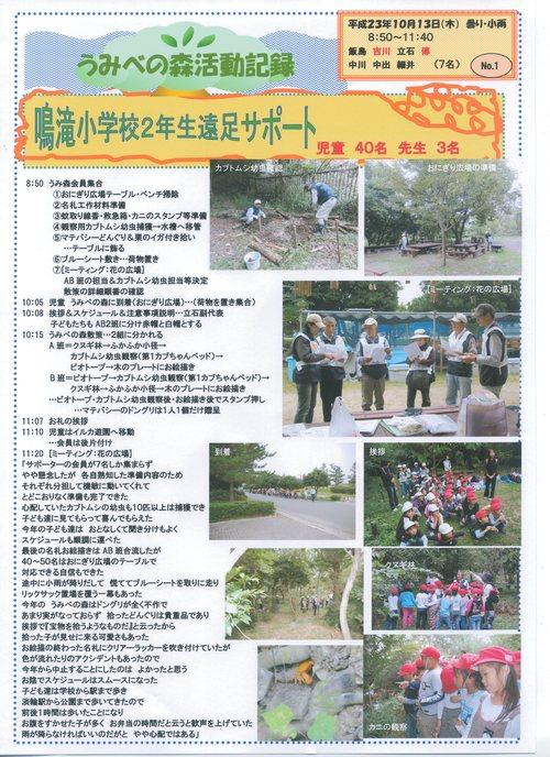 鳴滝小学校2年生40名遠足サポート in うみべの森_c0108460_20235518.jpg