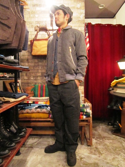 """ANACHRONORM \""""Quilted Wide Work Pants  Wide Fit\"""" ご紹介_f0191324_9275461.jpg"""