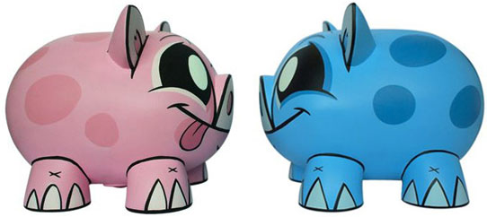 Piggy Bank Pink & Blue Set by Joe Ledbetter_e0118156_226646.jpg