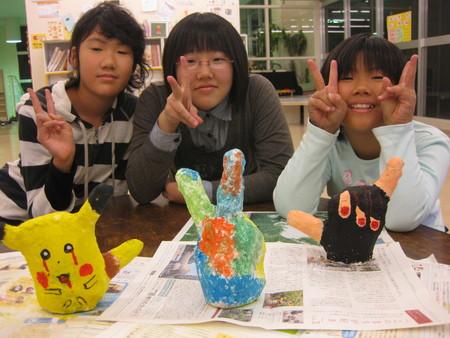 石こう工作~松井山手教室_f0215199_1572145.jpg