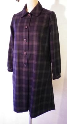 ブラックウォッチのギャザー袖コート (フルオーダー)_b0199696_17173224.jpg