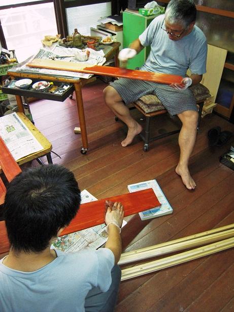 金沢仏壇の制作 その5 木地固め 2011.10.19_c0213599_234798.jpg
