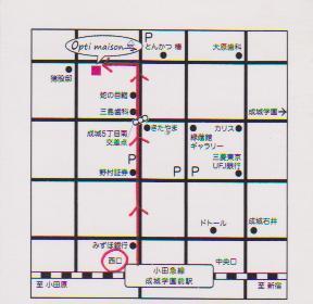 お店までの道順~近いルート(西口改札口より)_d0191211_16381525.jpg