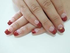 Red Lame Nail_a0239065_1639109.jpg