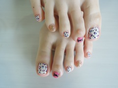 Colorful Leopard Nail_a0239065_16434571.jpg
