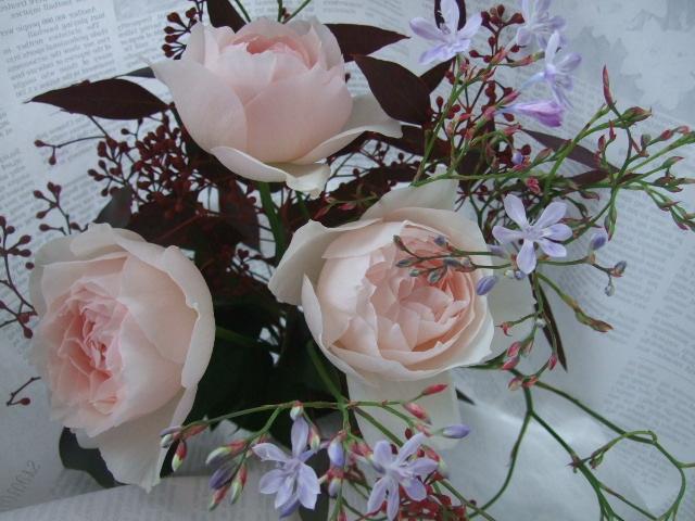 オークリーフ(秋薔薇と実物の花束)_f0049672_11153942.jpg