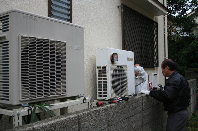 ガス式2室マルチエアコンを2組入替 その1(東京都西東京市)_e0207151_17321422.jpg