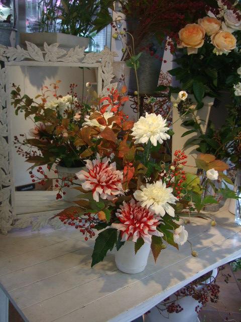 オークリーフ花の教室(北条さんの作品)_f0049672_1633107.jpg