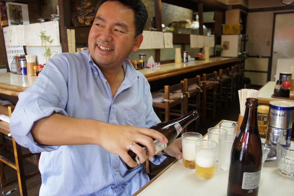 ツアー最初の食事、地元のラーメン屋さんにて。_c0180686_5553212.jpg