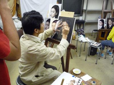 """古吉弘の""""古典的描法による人物画講座""""レポート5_b0107314_1171335.jpg"""