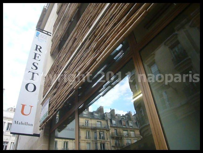 【学食RESTO U】リニュアール工事ほぼ終了(RUE MABILLON)PARIS_a0014299_19331397.jpg