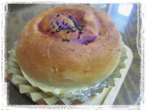 紫いもクリ-ムのうずまきパン_b0194098_15444822.jpg
