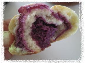 紫いもクリ-ムのうずまきパン_b0194098_15445897.jpg
