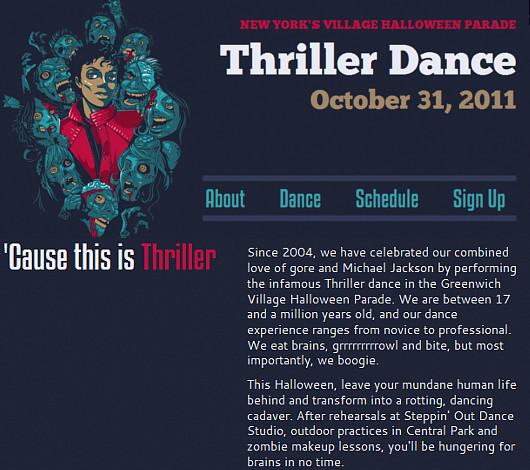 今年もあのゾンビ・ダンス・グループが始動しました ThrillerNYC_b0007805_0424573.jpg