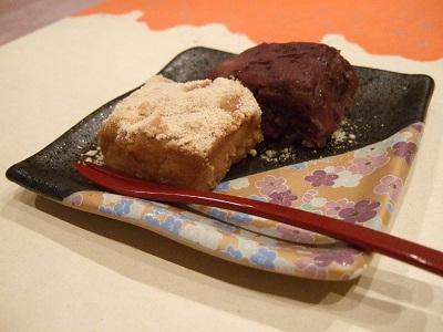 /// 今日のおめざは、大阪千日前にある玉製家・おはぎです ///_f0112434_23581962.jpg