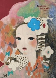 2011/11/23-28 進川桜子展 - 花飾りの少女達 - 【絵画】_e0091712_23315361.jpg