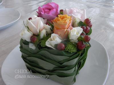 ケーキみたいな flower arrangement_b0213347_1232974.jpg