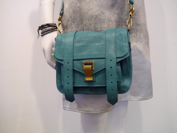 Proenza Schouler PS1 Pouch Lux Leather Teal_f0111683_12353587.jpg