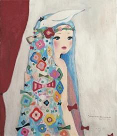 2011/11/23-28 進川桜子展 - 花飾りの少女達 - 【絵画】_e0091712_011727.jpg