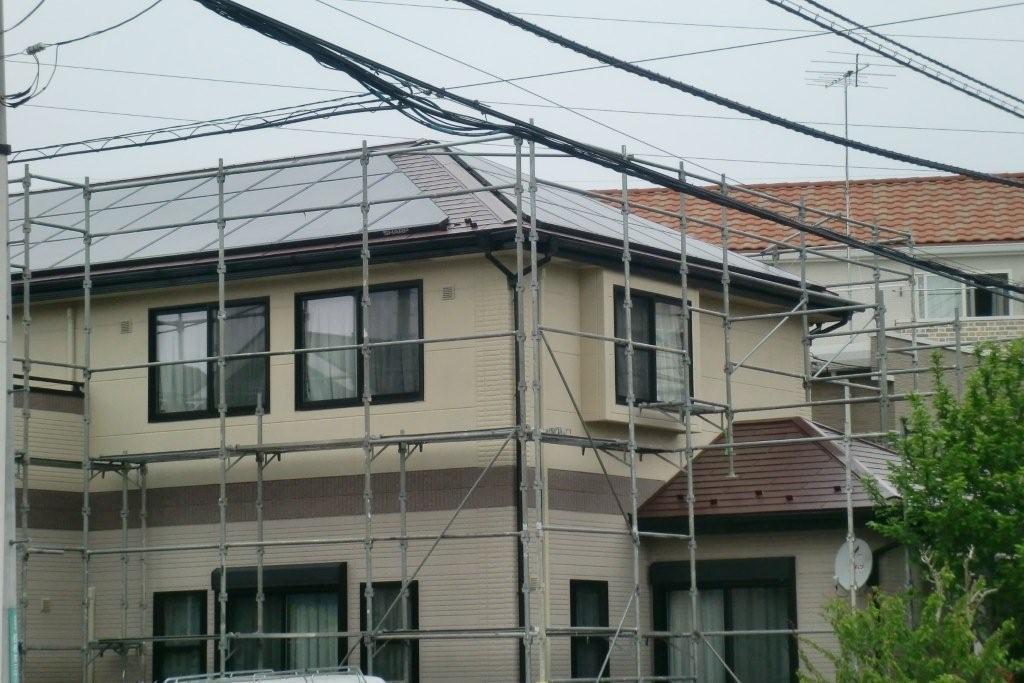 SHARPの太陽光発電システムを取り付けたお客様から塗り替えのご依頼(神奈川県相模原市)_e0207151_17474356.jpg