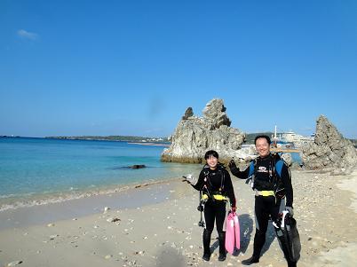 沖縄北部でビーチダイビング!_a0156273_1436334.jpg